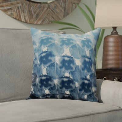 Viet Geometric Print Throw Pillow Size: 20 H x 20 W, Color: Blue