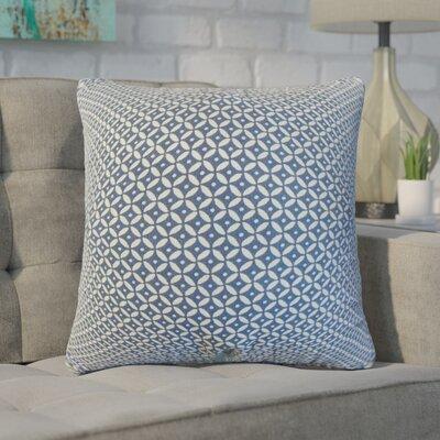 Zephyranthe Geometric Cotton Throw Pillow Color: Indigo