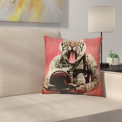 Space Tiger Throw Pillow