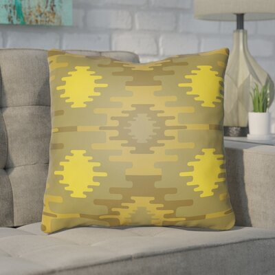 Adamson Square Throw Pillow Size: 18 H x 18 W x 3.5 D, Color: Bright Yellow