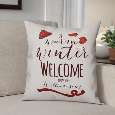 Elezi Warm Winter Welcome Throw Pillow