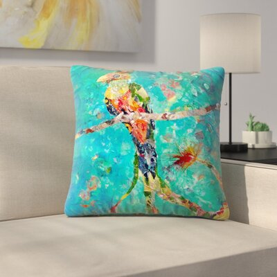 Sunshine Taylor Quetzal Indoor/Outdoor Throw Pillow Size: 14 x 14