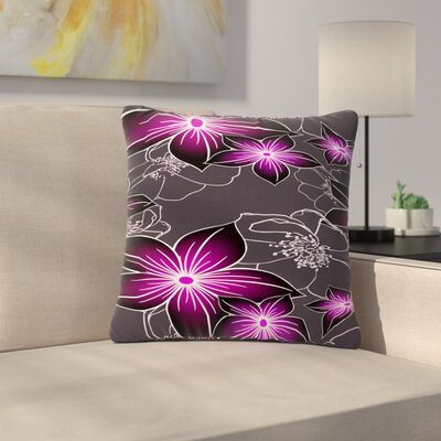 Alison Coxon Outdoor Throw Pillow Color: Amethyst, Size: 16