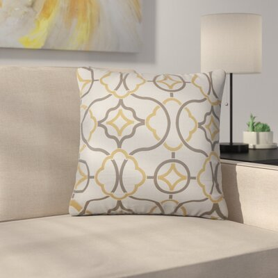 Stringfield Geometric Cotton Throw Pillow Color: Sandstone