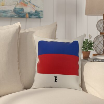 Harriet E Letter Print Throw Pillow Size: 18 x 18