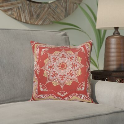 Meetinghouse Shawl Geometric Print Throw Pillow Size: 16 H x 16 W, Color: Coral