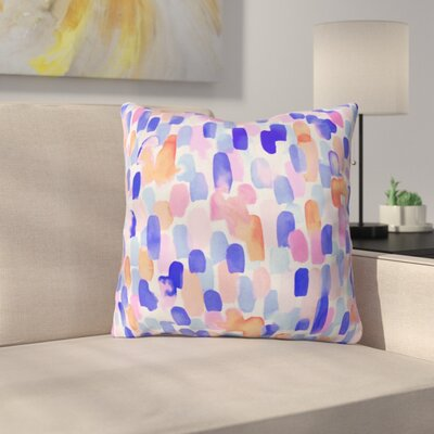 Throw Pillow Size: 16 H x 16 W x 4 D, Color: Blue/Orange