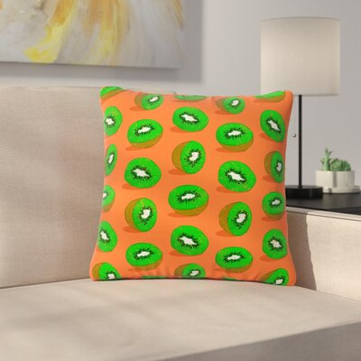 Evgenia Kiwifruit Outdoor Throw Pillow Size: 18 H x 18 W x 5 D