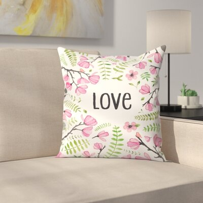 Elena ONeill Love Floral Throw Pillow Size: 16 x 16