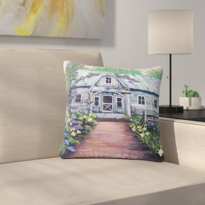 Cyndi Steen Ivy Cottage Again Outdoor Throw Pillow Size: 16 H x 16 W x 5 D