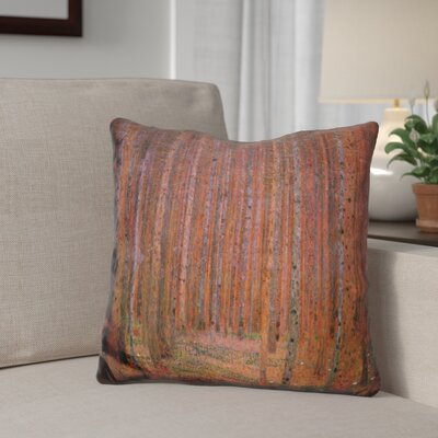 Giron Fir Forest Throw Pillow