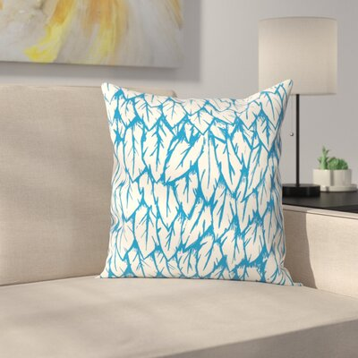 Joe Van Wetering Feathered Fringe Throw Pillow Size: 20 x 20