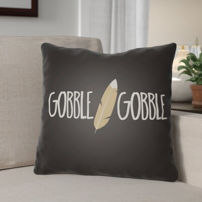 Gobble Indoor/Outdoor Throw Pillow Size: 18 H x 18 W x 4 D, Color: Black/White/Beige