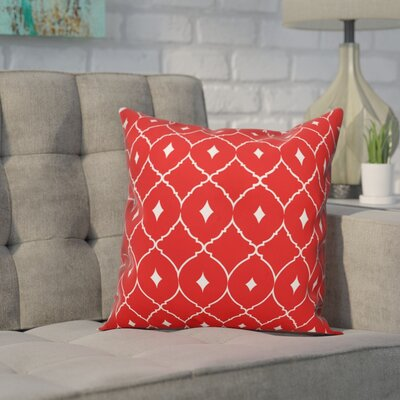 Cedric Diamond Throw Pillow Color: Coral Teal, Size: 16 x 16, Type: Pillow Cover
