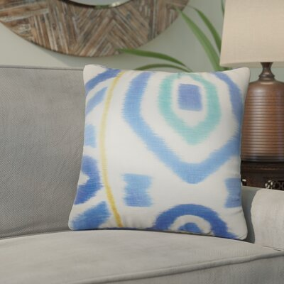Galasso Geometric Cotton Throw Pillow Color: Blue