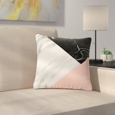Cafelab Marble Collage with Pale Outdoor Throw Pillow Size: 16 H x 16 W x 5 D