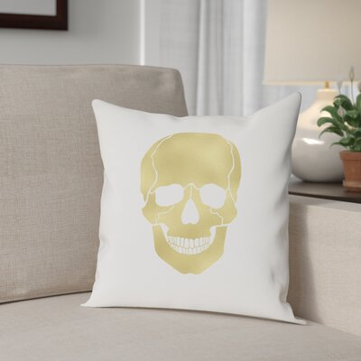 Skull Cotton Throw Pillow