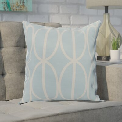Crosswhite Ovals Go Round Geometric Print Indoor/Outdoor Throw Pillow Color: Pale Blue, Size: 18 x 18