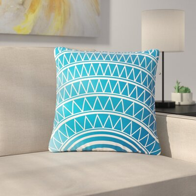Matt Eklund Portal Outdoor Throw Pillow Color: Azure, Size: 18