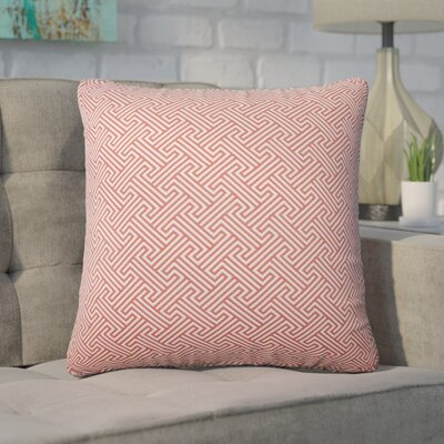Wyckhoff Geometric Cotton Throw Pillow Color: Carnation