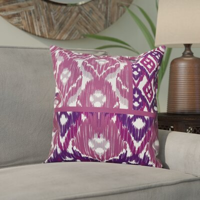 Meetinghouse Free Spirit Geometric Outdoor Throw Pillow Size: 18 H x 18 W, Color: Purple