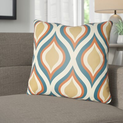 Wakefield Contemporary Throw Pillow Size: 20 H x 20 W x 4 D, Color: Blue