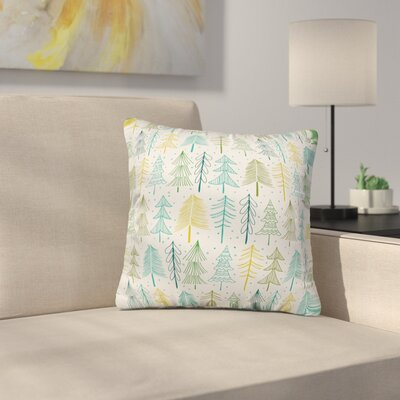 Heather Dutton Oh Christmas Tree Frost Throw Pillow Size: 18 x 18