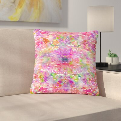 Ebi Emporium Jewel in the Crown, Coral Outdoor Throw Pillow Size: 16 H x 16 W x 5 D