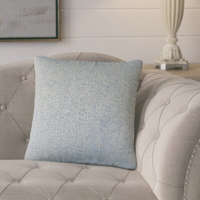 Posner Woven Cotton Throw Pillow Color: Blue