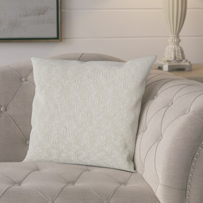 Drury 100% Cotton Throw Pillow Color: Natural/Silver