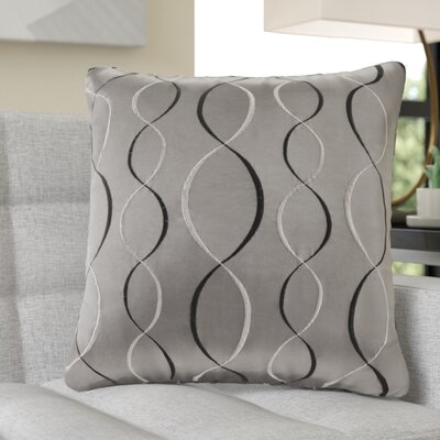 Nikhel Ogee Taffeta Throw Pillow Color: Charcoal