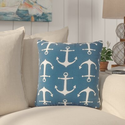 Curran Coastal Throw Pillow Color: Blue