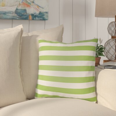 Ghent Stripe Indoor/Outdoor Throw Pillow Size: 20 H x 20 W x 3.5 D, Color: Green