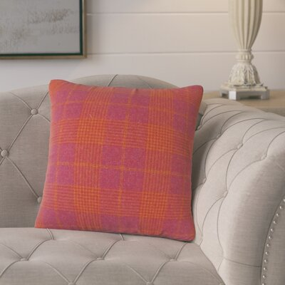 Harriette Plaid Throw Pillow Color: Pink