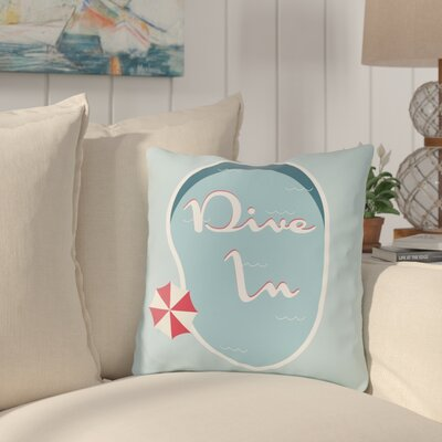 Bruce Dive in Throw Pillow Size: 16 H x 16 W x 3 D