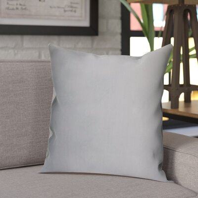 Sonny Decorative Square Silk Throw Pillow Color: Ice