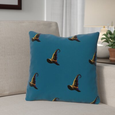 Witch Hat Outdoor Throw Pillow Color: Teal