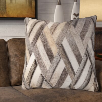 Gannon Faux Leather Throw pillow