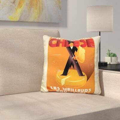 Monsieur Cheese Throw Pillow