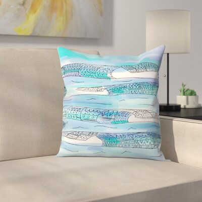 Jetty Printables Tribal Waves Boho Art Throw Pillow Size: 14 x 14