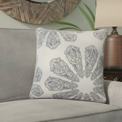 Christy Ikat Cotton Throw Pillow Color: Gray