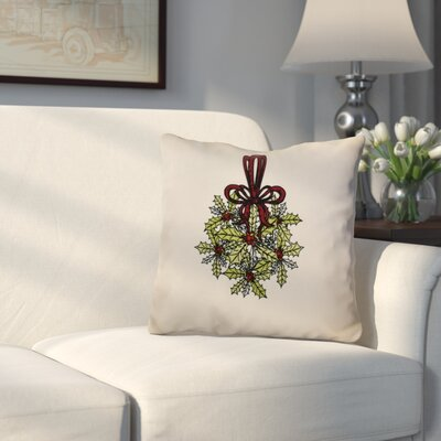 Decorative Holiday Throw Pillow Size: 26 H x 26 W, Color: Green