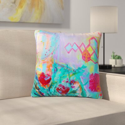 Cecibd Girl with Plants I Nature Outdoor Throw Pillow Size: 16 H x 16 W x 5 D