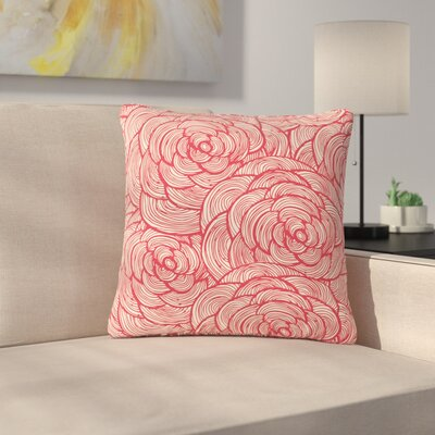 Roses Outdoor Throw Pillow Size: 16 H x 16 W x 5 D