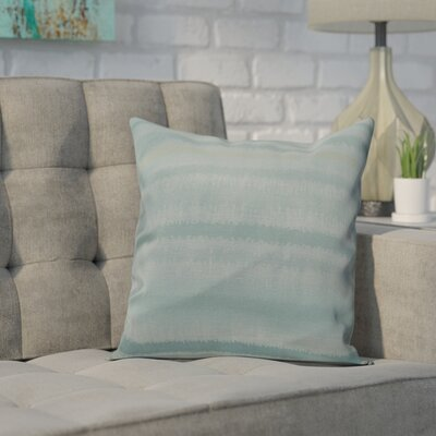 Dorazio Raya De Agua Throw Pillow Size: 26 H x 26 W, Color: Aqua