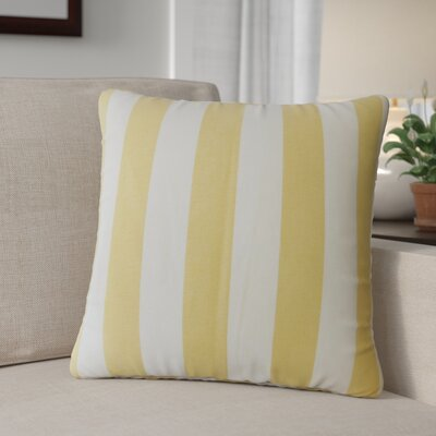 Grossman Striped Cotton Throw Pillow Color: Banana