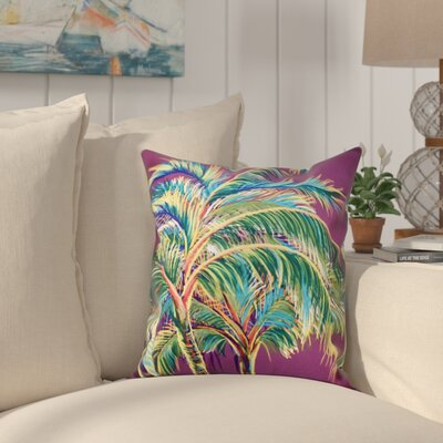 Pinkfringe Outdoor Throw Pillow Size: 20 H x 20 W, Color: Purple
