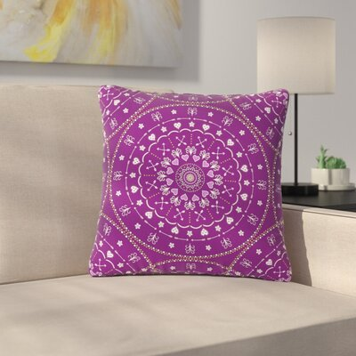 Cristina Bianco Mandalas Geometric Outdoor Throw Pillow Size: 16 H x 16 W x 5 D