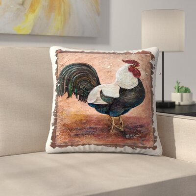 Olena Art Rooster Throw Pillow Size: 18 x 18