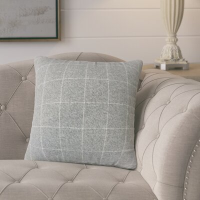 Harshil Plaid Down Filled Throw Pillow Size: 24 x 24, Color: Gray